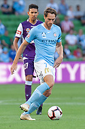 MELBOURNE, VIC - JANUARY 19: Melbourne City midfielder Rostyn Griffiths (7) passes the ball on at the Hyundai A-League Round 14 soccer match between Melbourne City FC and Perth Glory at AAMI Park in VIC, Australia 19th January 2019. Image by (Speed Media/Icon Sportswire)