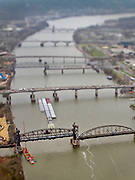 BENJAMIN KRAIN --3/29/11--<br /> Six bridges span the Arkansas River joining Little Rock and North Little Rock.