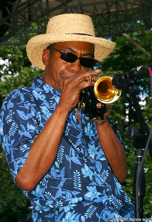 Ola Daru performs at Central Park SummerStage on June 20, 2004.