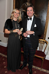 JACK & VICKY INGLIS at a dinner in aid of Caring For Courage - The Royal Scots Dragoon Guards Afghanistan Welfare Appeal held at The Royal Hospital Chelsea, London SW3 on 20th October 2011.