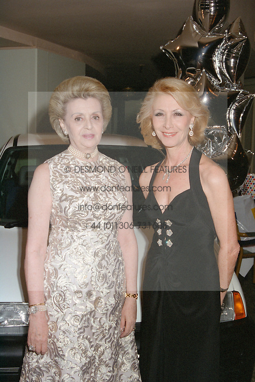Left to right, MRS CHRYSANTHY PATERAS, Chairman of the Greek Orthodox Charity Organisation, and MRS NICHOLAS HADJIPATERAS at a ball in London on March 15th 1997. LXC 3