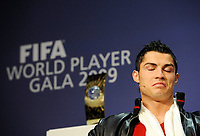 Ronaldo (POR) an der Pressekonferenz. © Valeriano Di Domenico/EQ Images