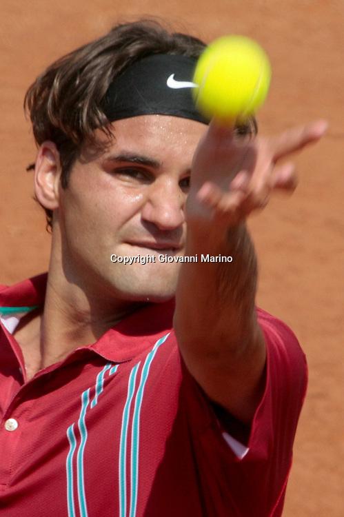 Rome 10/05/2007 - Tennis - ATP Masters Series - Internazionali d'Italia 2007. Roger Federer (SUI)