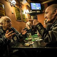 A couple of habitués of one local pub in Žižkov during interesting conversation.