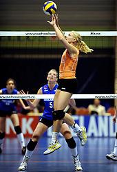 19-04-2008 VOLLEYBAL: AMVJ - DELA MARTINUS: AMSTELVEEN<br /> Martinus wint ook de derde wedstrijd in de best of 7 en is nog een overwinning verwijderd van het landskampioenschap / Kim Staelens<br /> &copy;2008-WWW.FOTOHOOGENDOORN.NL