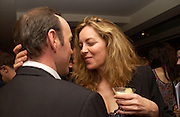 Kevin Spacey and Greta Scacchi, '24 hour plays' charity evening at the Old vic Theatre. June 6 2004.  Kevin Spacey artistic director for 6 short plays written and rehearsed in 24 hours. ONE TIME USE ONLY - DO NOT ARCHIVE  © Copyright Photograph by Dafydd Jones 66 Stockwell Park Rd. London SW9 0DA Tel 020 7733 0108 www.dafjones.com