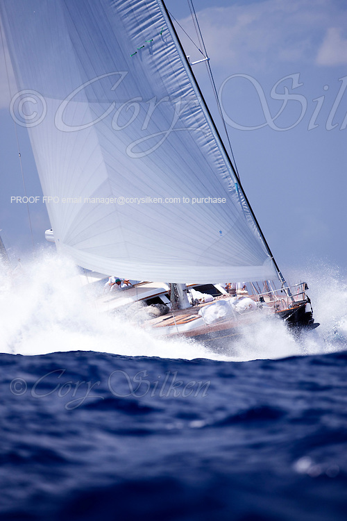 Whisper racing in the St. Barth's Bucket Regatta.