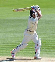 Surrey's Kevin Pietersen guides the ball into a gap. - Photo mandatory by-line: Harry Trump/JMP - Mobile: 07966 386802 - 22/04/15 - SPORT - CRICKET - LVCC County Championship - Division 2 - Day 4 - Glamorgan v Surrey - Swalec Stadium, Cardiff, Wales.