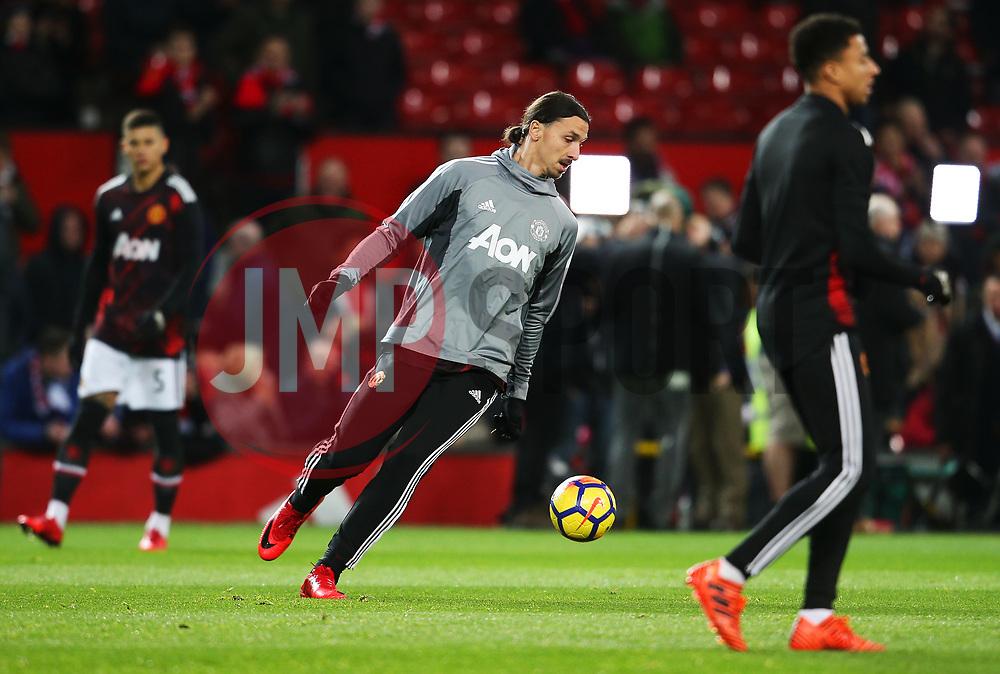 Zlatan Ibrahimovic of Manchester United warms up - Mandatory by-line: Matt McNulty/JMP - 18/11/2017 - FOOTBALL - Old Trafford - Manchester, England - Manchester United v Newcastle United - Premier League