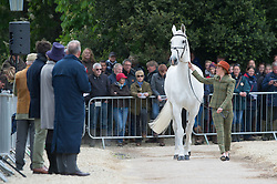 Milne Home Louisa, (GBR), King Eider<br /> First Horse Inspection - Mitsubishi Motors Badminton Horse Trials <br /> Badminton 2015