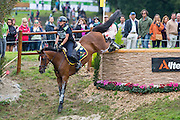 Evelina Bertoli, (ITA), Leitrim Orient Express - Eventing Cross Country test- Alltech FEI World Equestrian Games™ 2014 - Normandy, France.<br /> © Hippo Foto Team - Leanjo de Koster<br /> 30/08/14