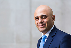 London, October 22 2017. Communities and Local Government Secretary Sajid Javid leaves the BBC after appearing on the Andrew Marr show at the BBC New Broadcasting House in London. © Paul Davey