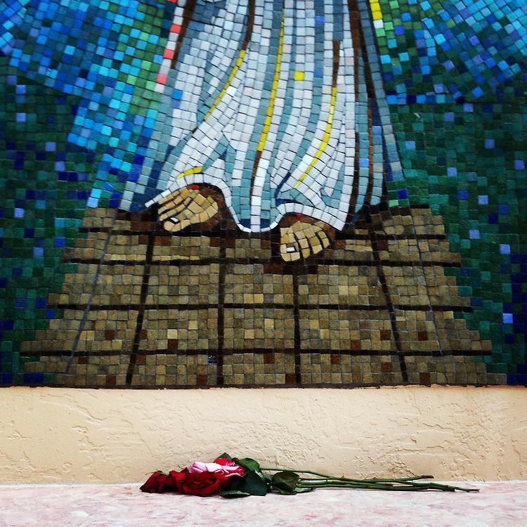 Gift of Roses. Santa Fe, New Mexico.