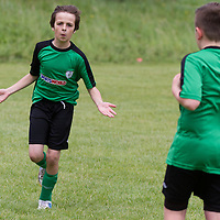 Conor Crowley celebrates scoring a goal during the Avenue Utd Summer Soccer Camp
