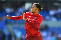 Virgil van Dijk of Liverpool warms up- Mandatory by-line: Nizaam Jones/JMP - 21/04/2019 -  FOOTBALL - Cardiff City Stadium - Cardiff, Wales -  Cardiff City v Liverpool - Premier League