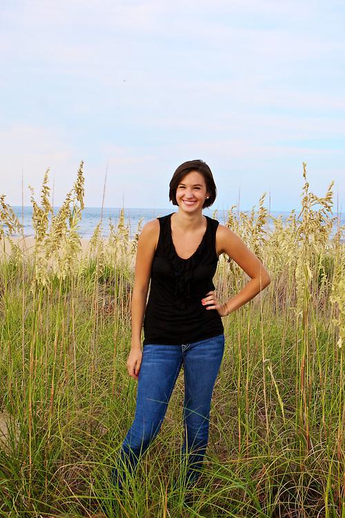Senior portraits of Hannah Baumer in Virginia Beach, VA. Mandatory Credit: Peter J. Casey