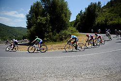 Cecilie Uttrup Ludwig descends on Stage 8 of the Giro Rosa - a 141.8 km road race, between Baronissi and Centola fraz. Palinuro on July 7, 2017, in Salerno, Italy. (Photo by Sean Robinson/Velofocus.com)