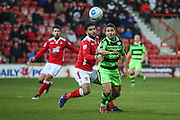 Forest Green Rovers Matt Tubbs(20) during the Vanarama National League match between Wrexham FC and Forest Green Rovers at the Racecourse Ground, Wrexham, United Kingdom on 26 November 2016. Photo by Shane Healey.