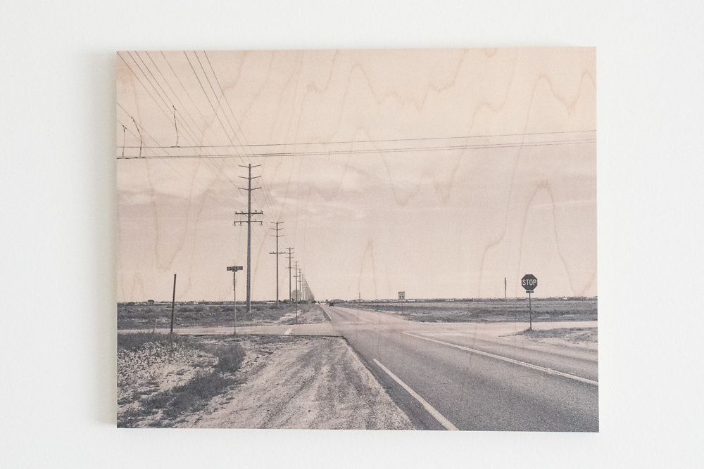'Open Road' Printed on Maple Wood.