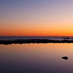Tide Pool, Atlantic Ocean at dawn, Rye, New Hampshire.