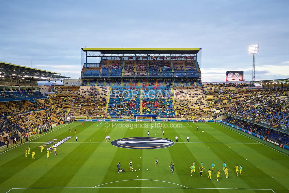 VILLRREAL, SPAIN - Thursday, April 28, 2016: A general view of Estadio El Madrigal ahead of the UEFA Europa League Semi-Final 1st Leg match between Villarreal CF and Liverpool. (Pic by David Rawcliffe/Propaganda)