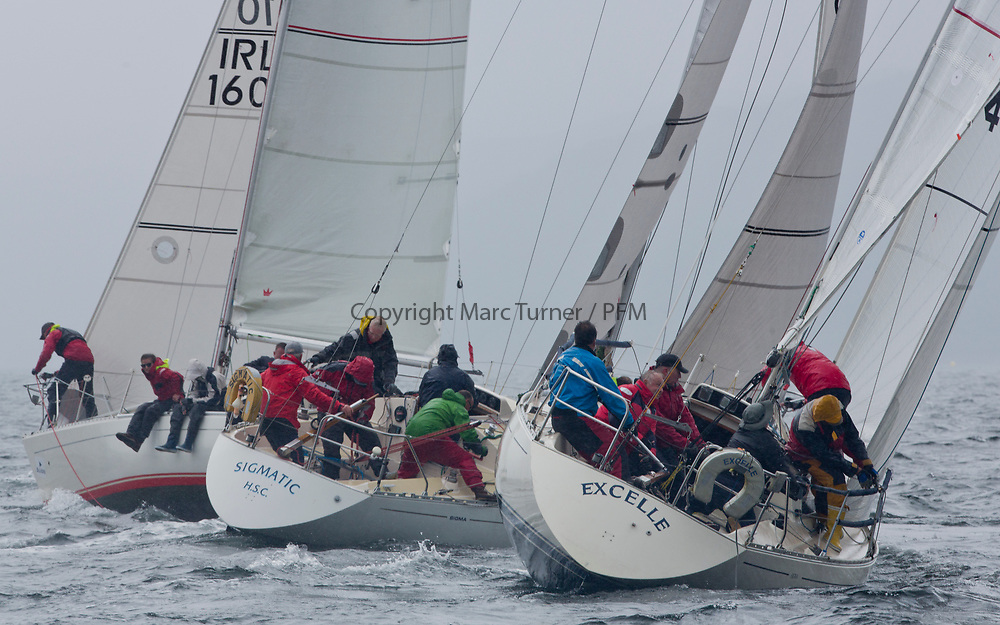 Silvers Marine Scottish Series 2017<br /> Tarbert Loch Fyne - Sailing<br /> <br /> Sigma 33 Fleet in the last race. <br /> <br /> GBR4270, Sigmatic, Donald &amp; Anita Mclaren, Helensburgh SC and GBR4462, Excelle, John Fox/Toby Claridge, Flushing Sailing Club, Sigma 33 OOD<br /> <br /> Credit: Marc Turner / CCC