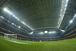 CARDIFF, WALES - Sunday, March 2, 2003: The Millennium Stadium with the roof closed before Liverpool take on Manchester United during the Football League Cup Final at the Millennium Stadium. (Pic by David Rawcliffe/Propaganda)