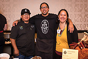 NATIVE FOOD<br />Seed Grower: Rowen White, Indigenous Seed Keepers Network<br />Chef 1: M Karlos Baca, Taste of Native Cuisine. Chef 2: Brian Yazzie, Yazzie the Chef<br />Dish: Haudenosaunee Red Corn Tortilla w/Pressed Amaranth Flower & Heritage Bean, Goosefoot Seed, Chamisa, and Red Chile Relish