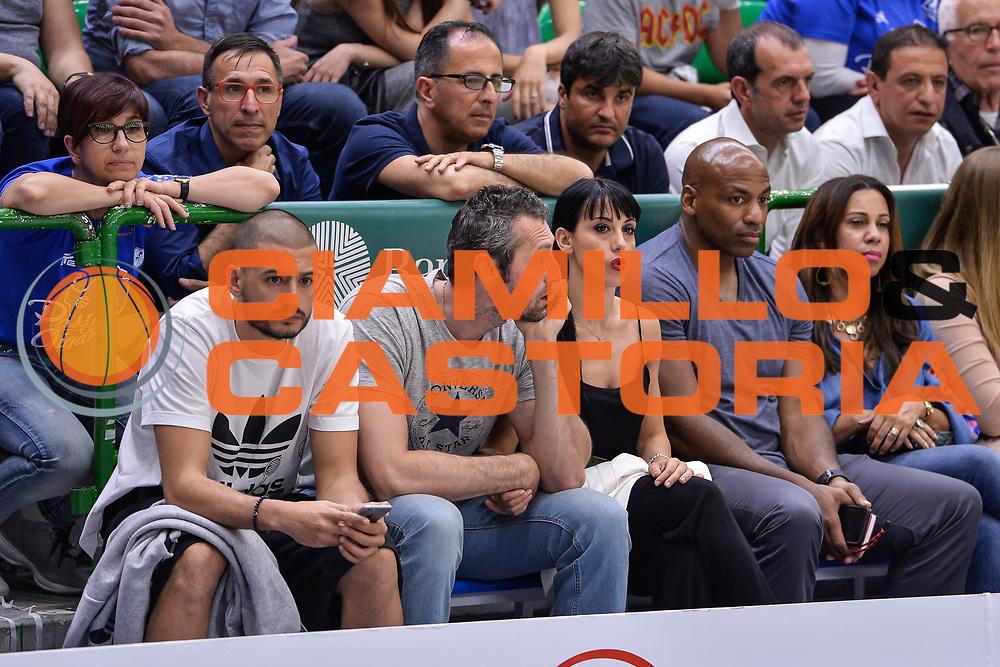 Massimo Chessa, Manuel Vanuzzo, Dell Demps<br /> Banco di Sardegna Dinamo Sassari - Dolomiti Energia Aquila Basket Trento<br /> Legabasket Serie A LBA Poste Mobile 2016/2017<br /> Playoff Quarti Gara3<br /> Sassari 16/05/2017<br /> Foto Ciamillo-Castoria
