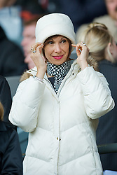 LIVERPOOL, ENGLAND - Saturday, March 8, 2008: Montse Benitez, wife of Liverpool's manager Rafael Benitez during the Premiership match at Anfield. (Photo by David Rawcliffe/Propaganda)