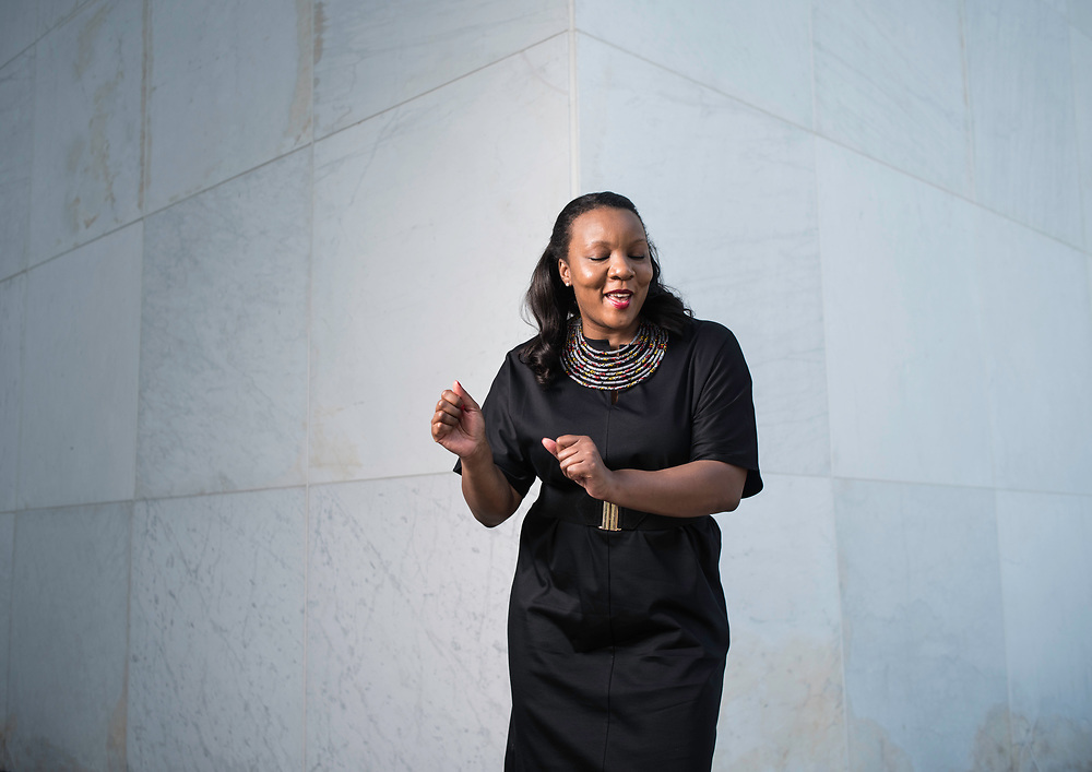 "WASHINGTON,DC - July 26, 2017: Simone Eccelston is Director of Hip Hop Culture and Contemporary Music at the Kennedy Center. She's been in the job four months. She says, ""This position is a continuation of my lifelong commitment to celebrating the intellectual and creative genius of people of color."". (André Chung for The Undefeated)"