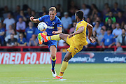AFC Wimbledon defender Paul Robinson (6) during the Pre-Season Friendly match between AFC Wimbledon and Crystal Palace at the Cherry Red Records Stadium, Kingston, England on 27 July 2016. Photo by Stuart Butcher.
