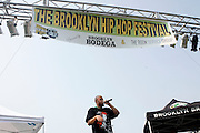 Homeboy Sandman at The 4th Annual Brooklyn HipHop Festival Main performance sponsored by Truth held at Empire Fulton-Ferry State Park on July 12, 2008..The Kings and Queens of Brooklyn return home supported by the next wave from Brooklyn and beyond featuring performances from: KRS One, DJ Premier, Buckshot, Blu & Exile, Mickey Factz, 88-Keys, J.Period, Fresh Daily, Zaki Ibrahim, Homeboy Sandman and Special Guests! Hosted by Uncle Ralph McDaniels ..