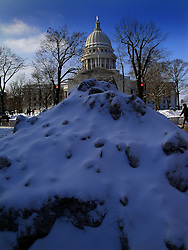 Snow in Madison, Wisconsin.