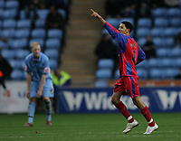 Photo: Lee Earle.<br /> Coventry City v Crystal Palace. Coca Cola Championship. 13/01/2007.Jobi McAnuff celebrates after scoring number four for Palace.