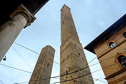 The Two Towers of Bologna (Le Due Torri), Italy - symbols of the city<br /> <br /> (c) Andrew Wilson | Edinburgh Elite media