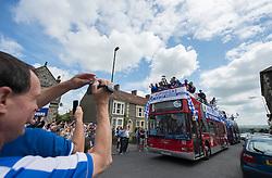 Fans photograph the Bristol Rovers Bus tour. - Photo mandatory by-line: Alex James/JMP - Mobile: 07966 386802 - 25/05/2015 - SPORT - Football - Bristol - Memorial Stadium -    Bristol Rovers Bus Tour