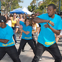 Jeffery McCann & West Bound dance compony teach the National Day Dance, ÒDizzy FeetÓ during the Santa Monica Chamber of CommerceÕs 26th Annual Health and Fitness Festival at the Third Street Promenade on Saturday, July 30, 2011...