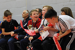 Bristol Flyers fans cheers - Mandatory byline: Dougie Allward/JMP - 12/03/2016 - FOOTBALL - SGS Wise Campus - Bristol, England - Bristol Flyers v Glassgow Rocks - British Basketball League