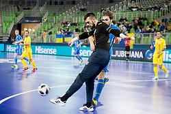Toni Tonita of Romania during futsal match between Romania and Ukraine at Day 4 of UEFA Futsal EURO 2018, on February 2, 2018 in Arena Stozice, Ljubljana, Slovenia. Photo by Urban Urbanc / Sportida