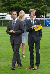 Left to Right Michael Owen and John Maxse -former PR director at both the Jockey Club and the British Horse racing Authority on the second day of Glorious Goodwood<br /> London, United Kingdom,<br /> Wednesday, 31st July 2013<br /> Picture by i-Images