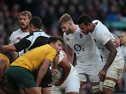 December 3, 2016 - London, England, United Kingdom - L-R England's George Kruis and England's Courtney Lawes during Old Mutual Wealth Series match between England against Australia at Twickenham stadium , London, Britain on 3 December 2016. (Credit Image: © Kieran Galvin/NurPhoto via ZUMA Press)