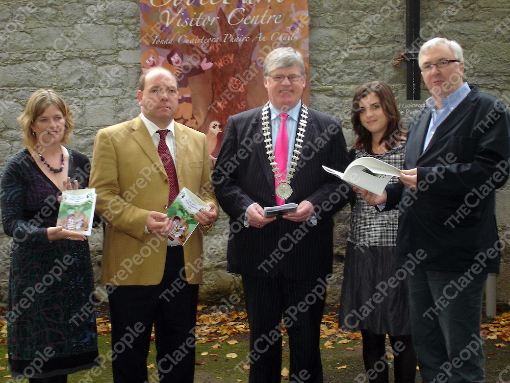 At the Coole Park winter programme launch were  Marie Mannion Heritage Officer Galway County Council, Cllr. Gerry Finnerty, Loughrea Electoral Area Councillor, Cllr. Pat Hynes, Loughrea Electoral Area Councillor and Mayor of Loughrea Town Council, Breda Coyle, Community Development Officer, Galway Rural Development, Ronnie O'Gorman, Chairperson, Friends of Coole.