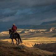 Riding the Badlands, Dubois, Wyoming