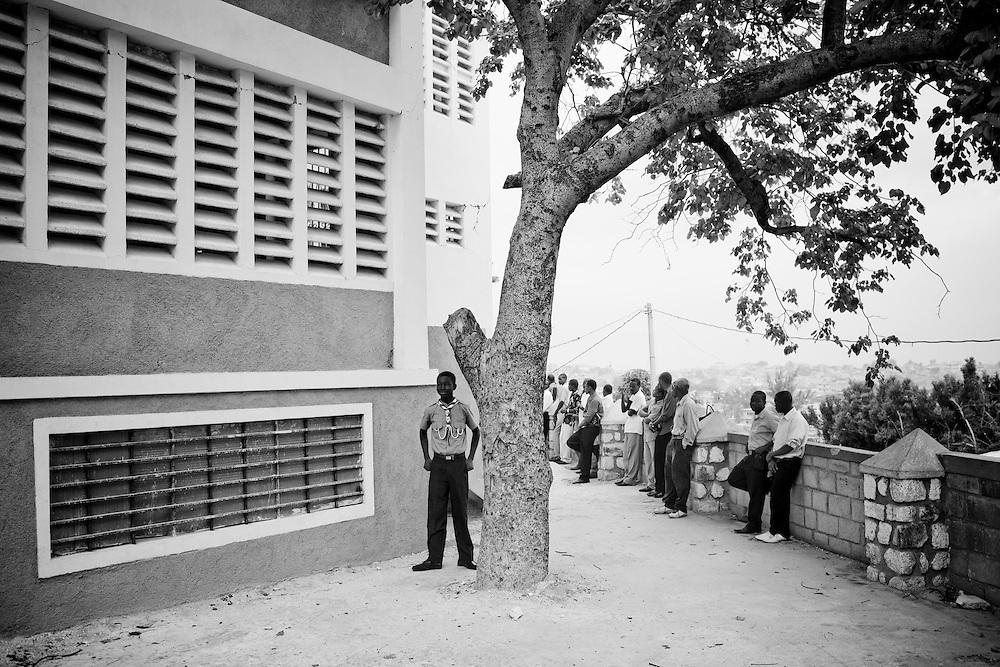 Sunday church services at Eglise Baptiste Bellevue Salem MEBSH church in Port-au-Prince, Haiti.