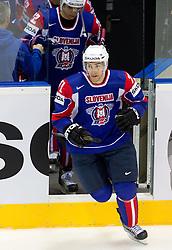 Bostjan Golicic of Slovenia during ice-hockey match between Slovakia and Slovenia of Group A of IIHF 2011 World Championship Slovakia, on April 29, 2011 in Orange Arena, Bratislava, Slovakia. Slovakia defeated Slovenia 3-1. (Photo By Vid Ponikvar / Sportida.com)
