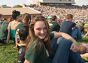 OHIO Student Rachel Bonnell at the 2013 OHIO Homecoming football game. Photo by Ben Siegel