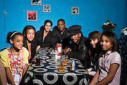Aswad - Brinsley Forde and family backstage at Island 50 event