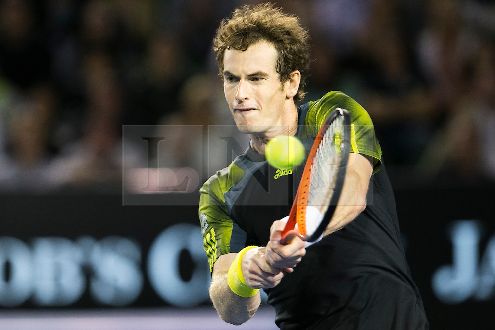 © Licensed to London News Pictures. 27/01/2013. Melbourne Park, Australia. Andy Murray during the Mens Final between Novak Djokovic and Andy Murray of the Australian Open. Photo credit : Asanka Brendon Ratnayake/LNP