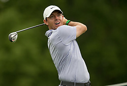 May 30, 2019 - Dublin, OH, U.S. - DUBLIN, OH - MAY 30: Rory McIlroy of Northern Ireland plays his shot from the 18th tee during the Memorial Tournament presented by Nationwide at Muirfield Village Golf Club on May 30, 2018 in Dublin, Ohio. (Photo by Adam Lacy/Icon Sportswire) (Credit Image: © Adam Lacy/Icon SMI via ZUMA Press)